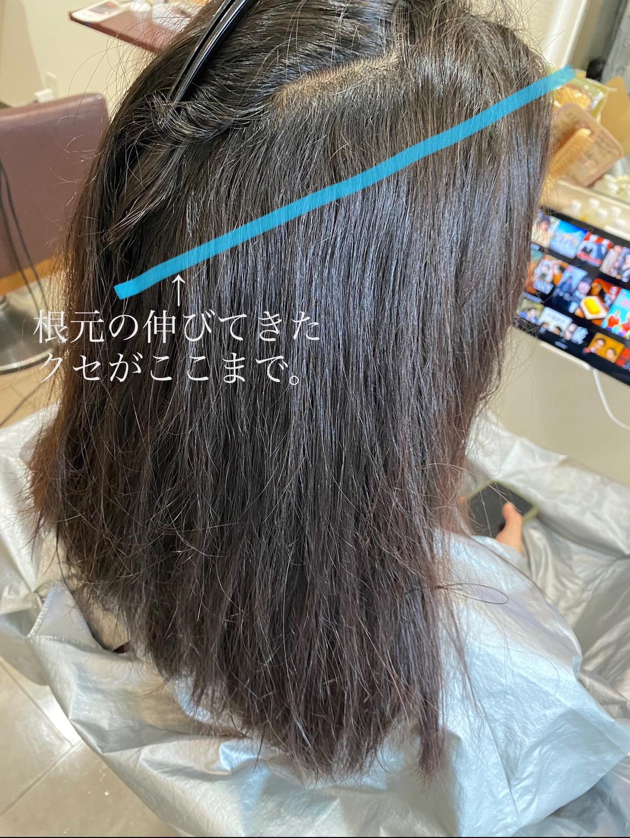 縮毛矯正がいつも伸びてない人の髪 大阪 堺市 美容 縮毛矯正 ストレート